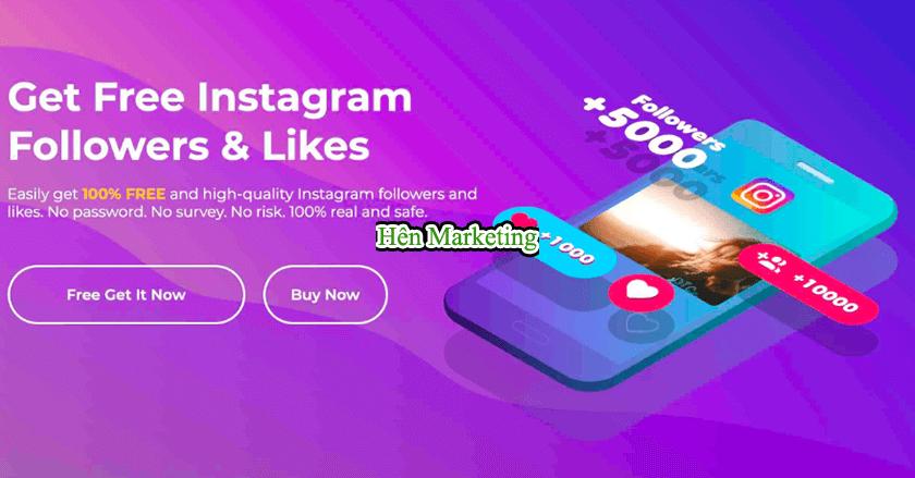 cách tăng like cho instagram