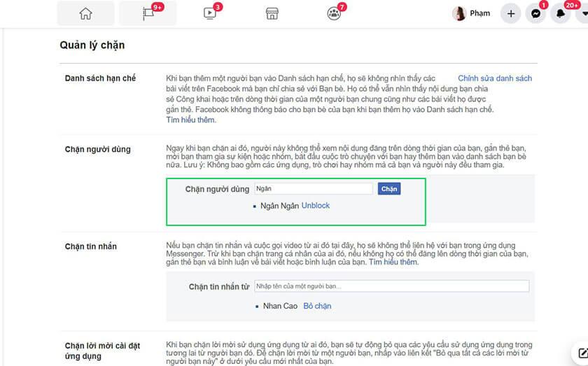 Kết thúc chặn người theo dõi trên Facebook