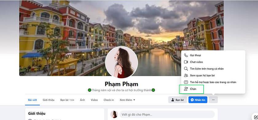 Cách chặn người theo dõi trên Facebook ngay trên Proflie