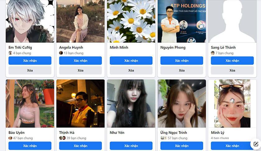 Danh sách ai đã theo dõi tteen Facebook sẽ hiện ra